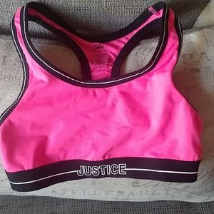 Justice girls sz 30 sports bra